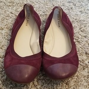 Cole Haan maroon suede flats size 6.5